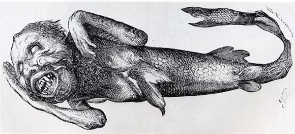 La sirena de P. T. Barnum en una ilustración de 1842.