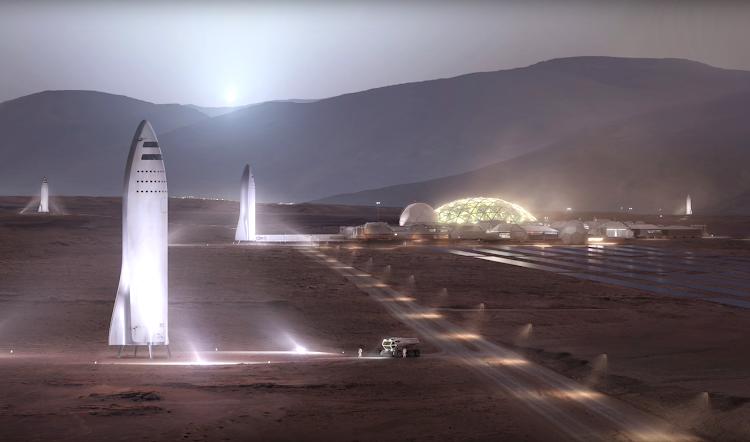 Илон Маск & SpaceX, Презентация BFR — База на Марсе