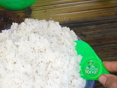 FOTO 2 :  Nasi sudah matang ..