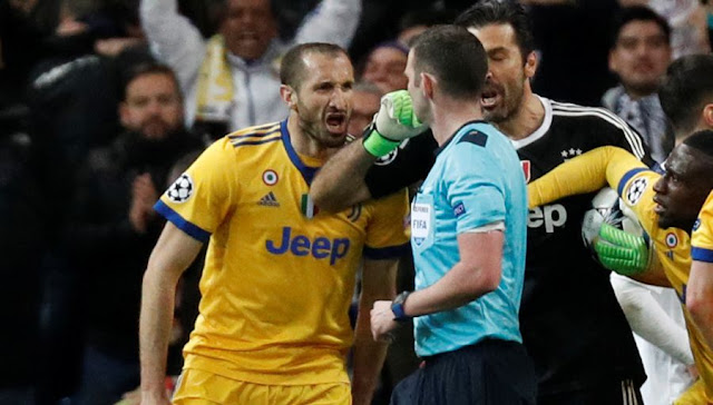 Buffon, the punishment has fallen!