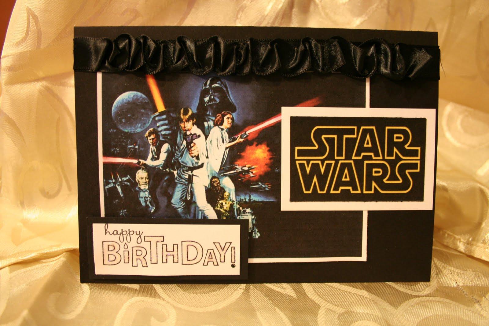 KREATION KORNER Star Wars Birthday Card