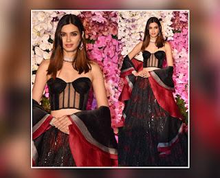 Diana Penty At Akash Ambani Shloka Mehta Reception