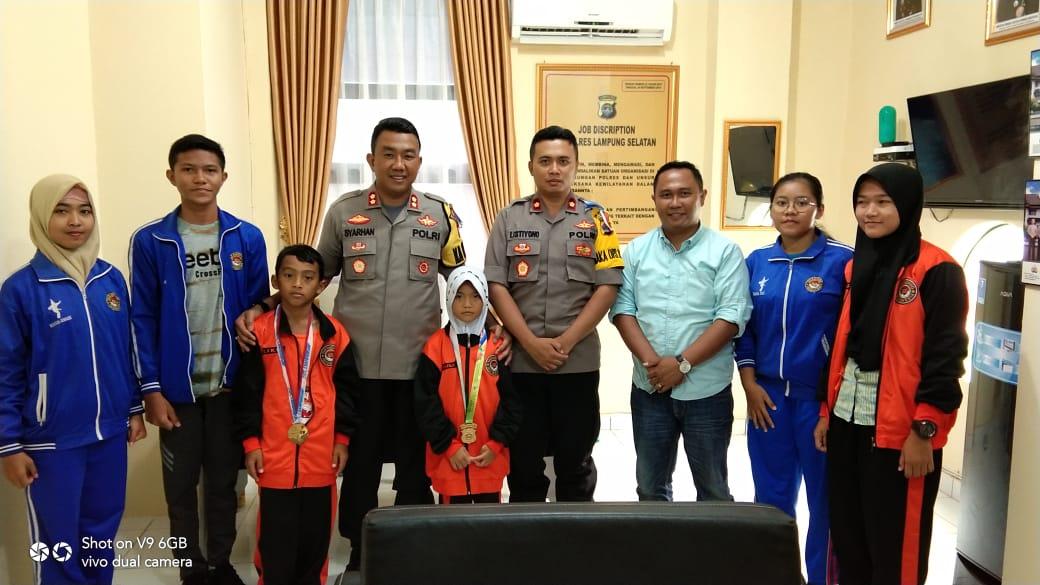 Para Atlet Taekwondo Audensi Bersama Kapolres Lampung Selatan