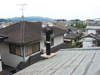 煙突の上部とH傘
