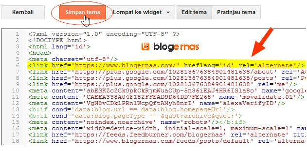 Kode Valid Tag Hreflang & Cara Memasangnya pada Blog