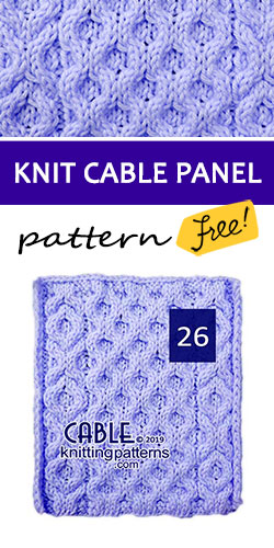 Knitted Cable Panel Pattern 26