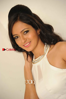 Kannada Actress Nidhi Latest Pos in White Short Dress at Vega Movie Launch Press Meet  0002.jpg