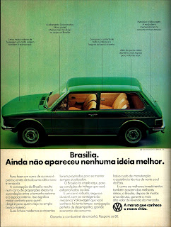 propaganda Brasília - 1977;  Volkswagen; Volks. vw; reclame de carros anos 70. brazilian advertising cars in the 70. os anos 70. história da década de 70; Brazil in the 70s; propaganda carros anos 70; Oswaldo Hernandez;