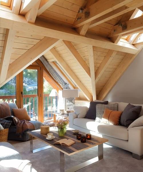 Slow life w górskim klimacie - wystrój wnętrz, wnętrza, urządzanie domu, dekoracje wnętrz, aranżacja wnętrz, inspiracje wnętrz,interior design , dom i wnętrze, aranżacja mieszkania, modne wnętrza, drewniany dom, górska chata, mieszkanie na poddaszu, poddasze