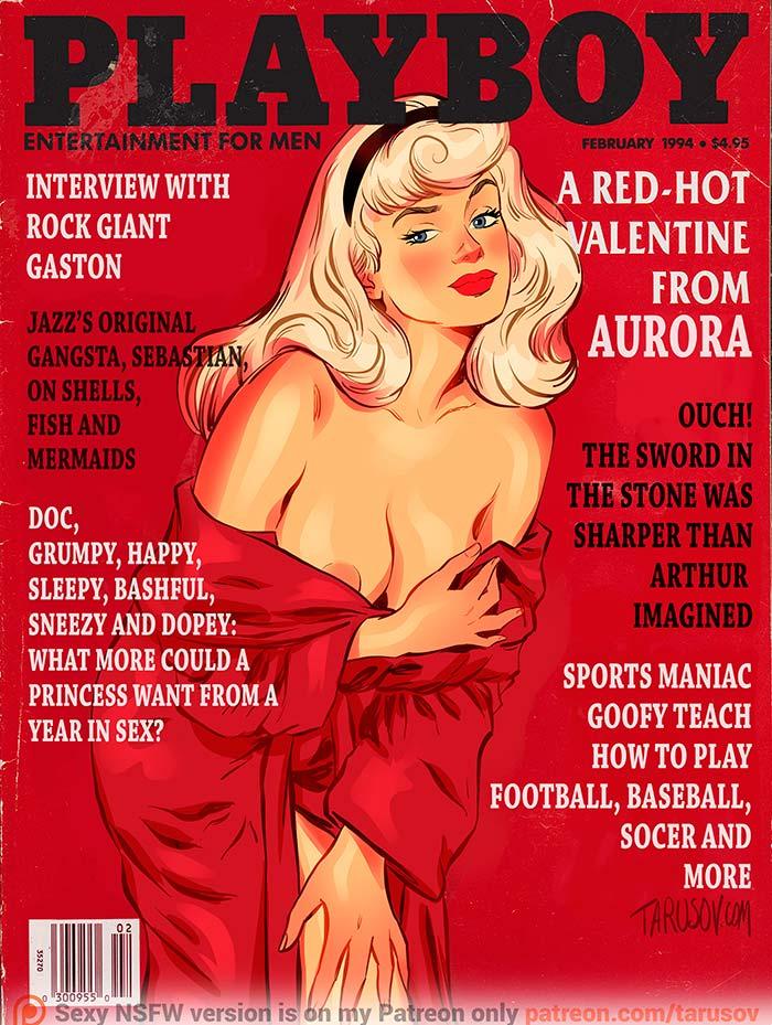 """Ilustración. Y si las princesas de Disney fueran portada de """"Playboy"""" con Andrew Tarusov"""