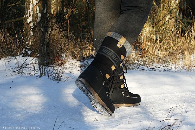 śniegowce moon boot we monaco felt na nogach