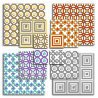 Geometric squares mixed set digital collage sheets.
