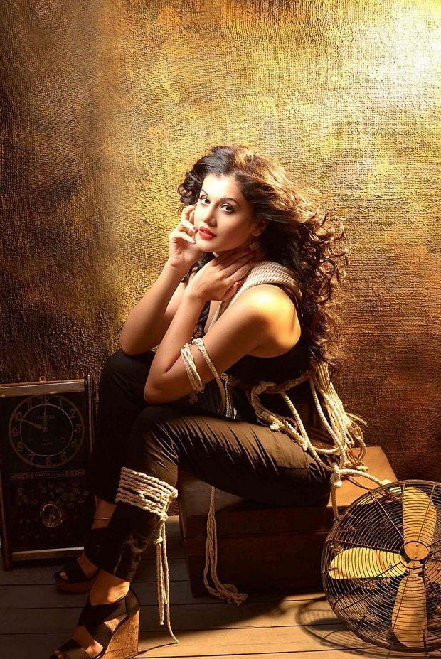 Tapsee pannu Hot in Black