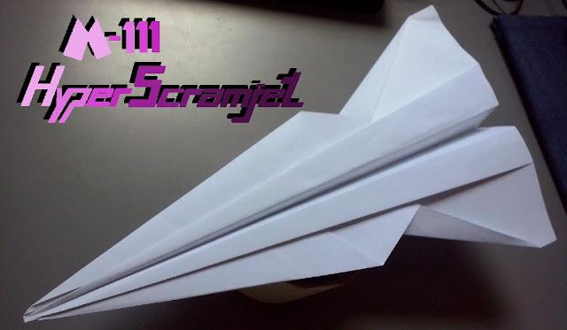 Avión de papel M-111 HyperScramjet