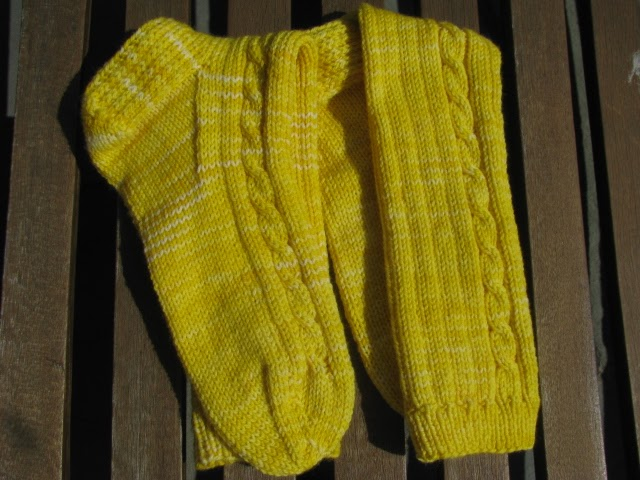 Knitting Socks For Beginners : Knitnscribble easy beginner sock knitting pattern i