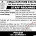 Fazaia (PAF) Inter College Karachi Jobs - Latest Career-Pk