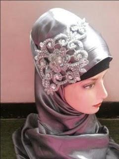 Aksesoris Jilbab Pesta Pengantin Modern