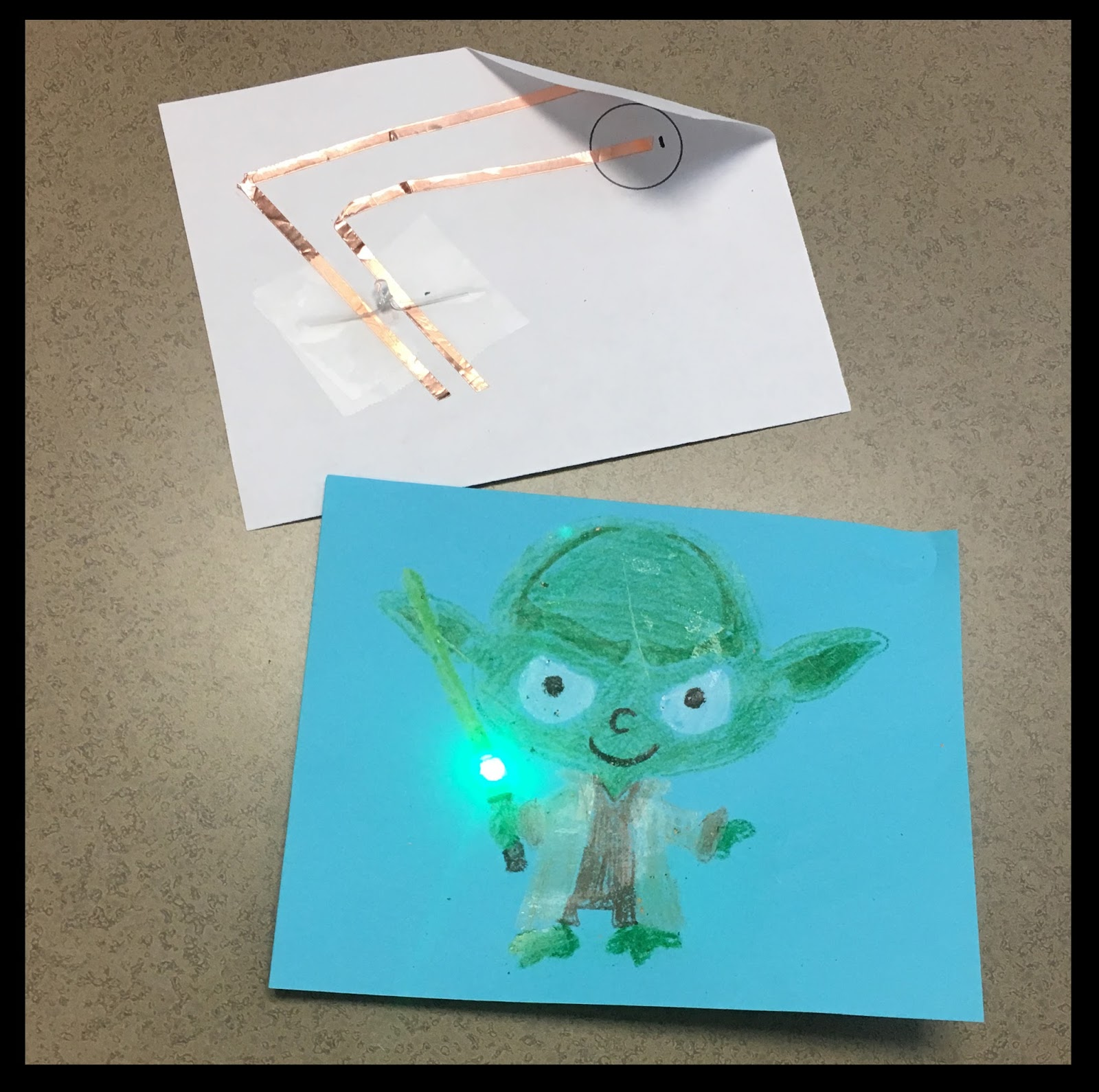 Tech Happy Classroom Electronics Fun With Paper Circuits Circuit Vs Parallel For Kids Using The Above As An After Students Make Simple And In Small Groups They Design Create A Within Piece Of Art