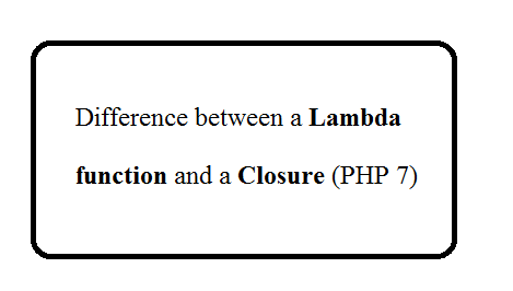 Difference between a lambda function and a closure (in PHP)