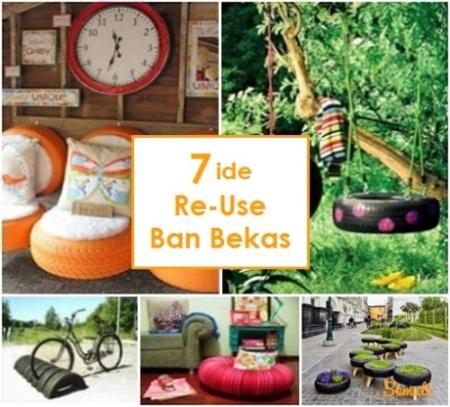 7 Ide Memanfaatkan Kembali Ban Bekas