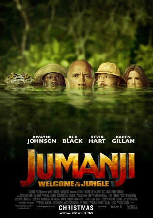 Jumanji Welcome To The Jungle 2017 HDTS 350Mb Hindi Dual Audio 480p Watch Online Full Movie Download bolly4u