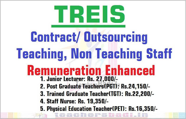 TREIS JLs,PGTs,TGTs,PETs,Staff nurse remuneration enhanced-GO.27