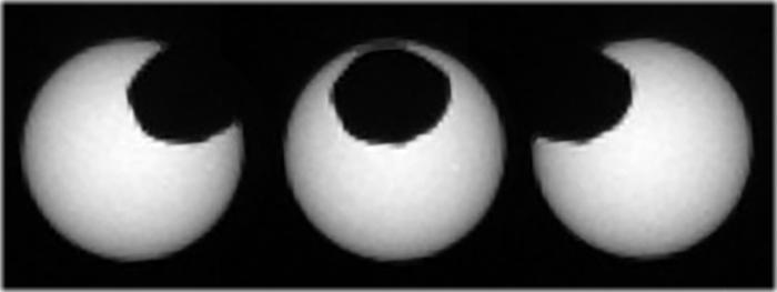 robo curiosity captura dois eclipses em Marte