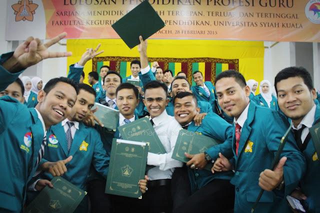 Kegembiraan Saat Yudisium PPG SM3T 2015