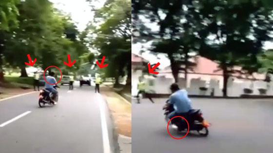 Video Lolos Dihadang 4 Polisi Saat Razia, Pria Ini Dijuluki 'Dewa'