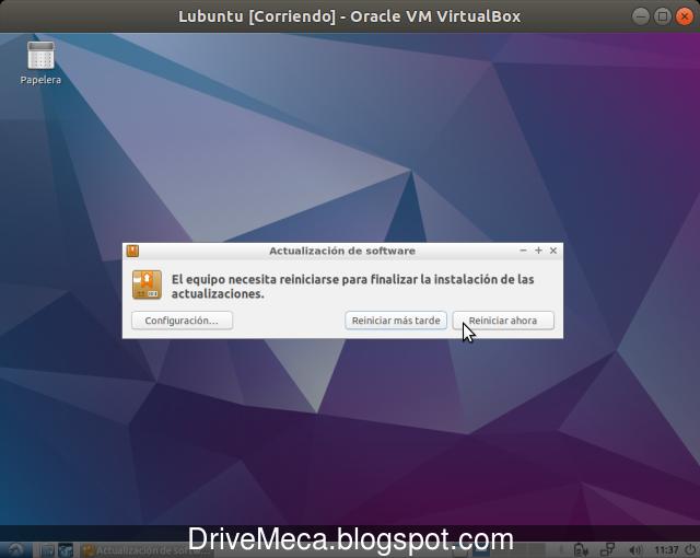 Si se instalo un kernel, debemos reiniciar nuestro Linux