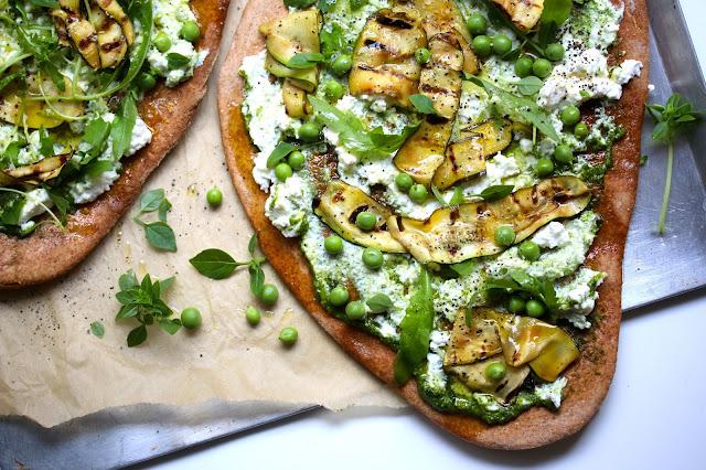 Spelt Spring Veggie Pizza