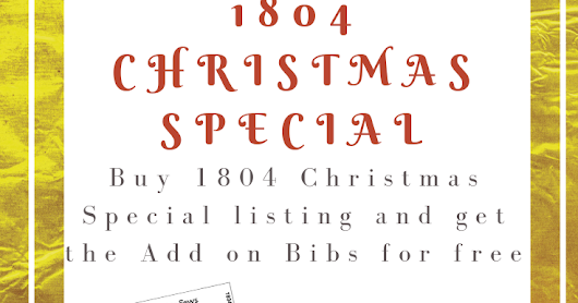 1804 Christmas Special Doll Clothes Pattern