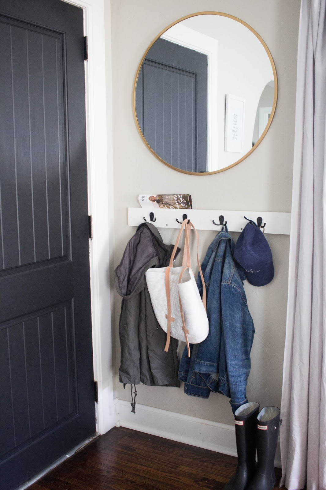 Front Door Coat Hooks Always Rooney How To Create An Entry Way In A Small Space