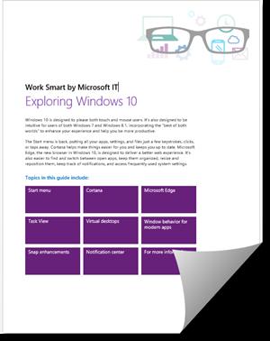 كتاب من مايكروسوفت لتعلم ويندوز 10
