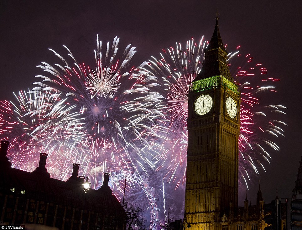 london new year firework images
