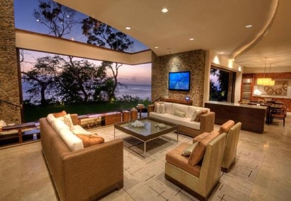 Decora y disena interior de casa de lujo en hawaii for Casas modernas con piscina interior