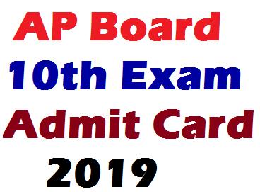 AP 10th Admit Card 2019