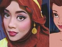 Wow! Cuma Modal Jilbab dan Make Up, Muslimah Cantik Ini Jadi Princess Cosplay Disney, Hasilnya Mencengangkan