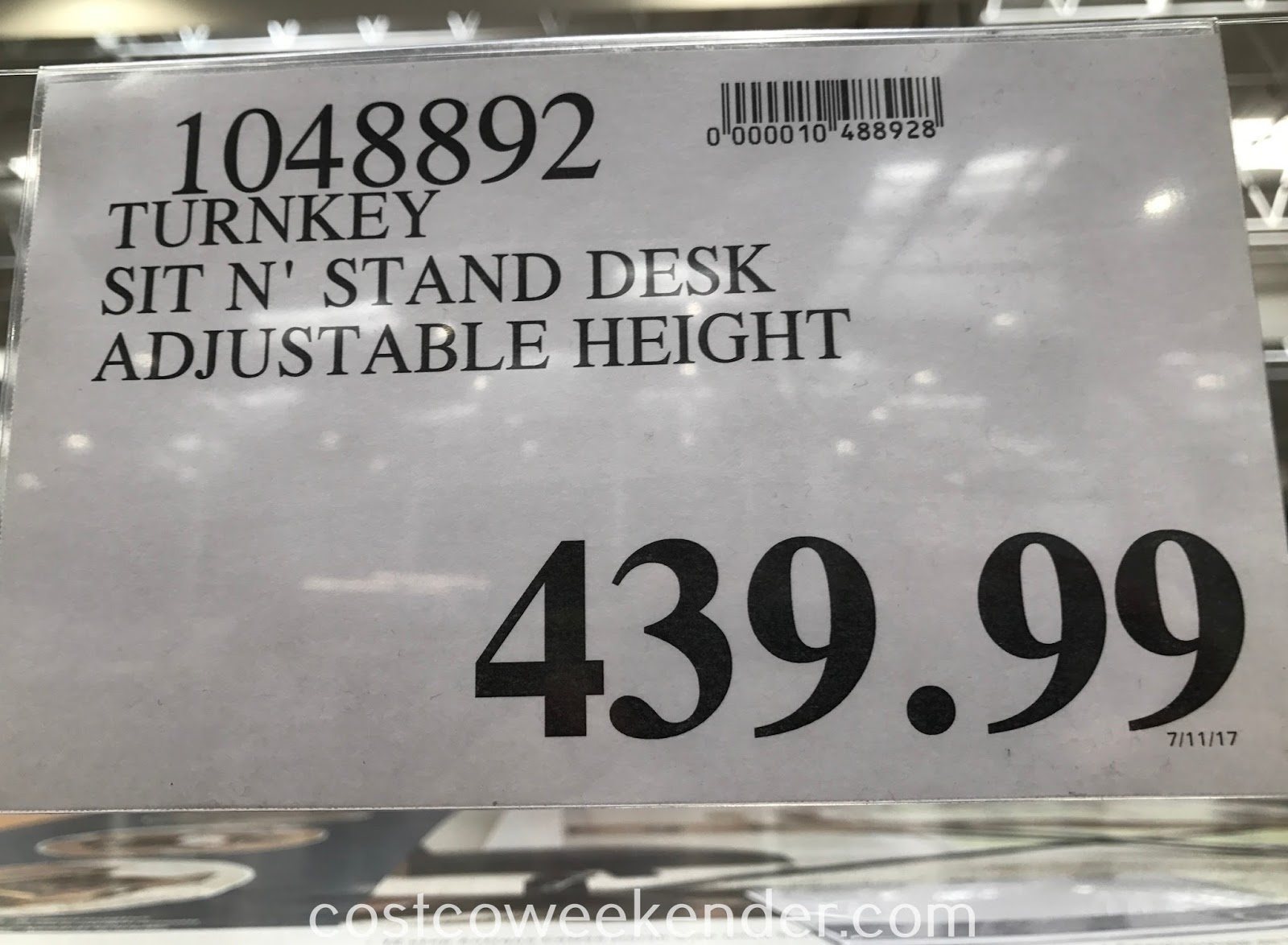 Deal for the Turnkey Powered Sit n' Stand Desk at Costco