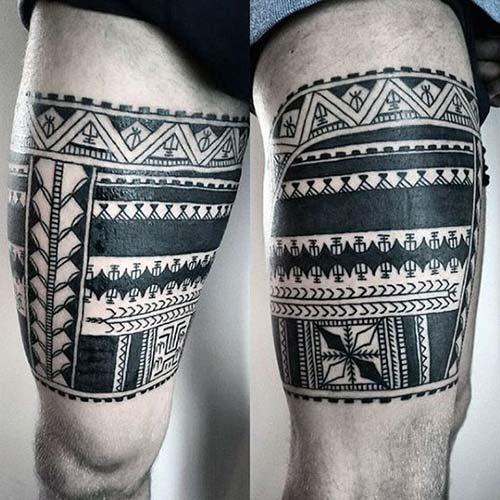erkek üst bacak dövme modelleri man thigh tattoos 39