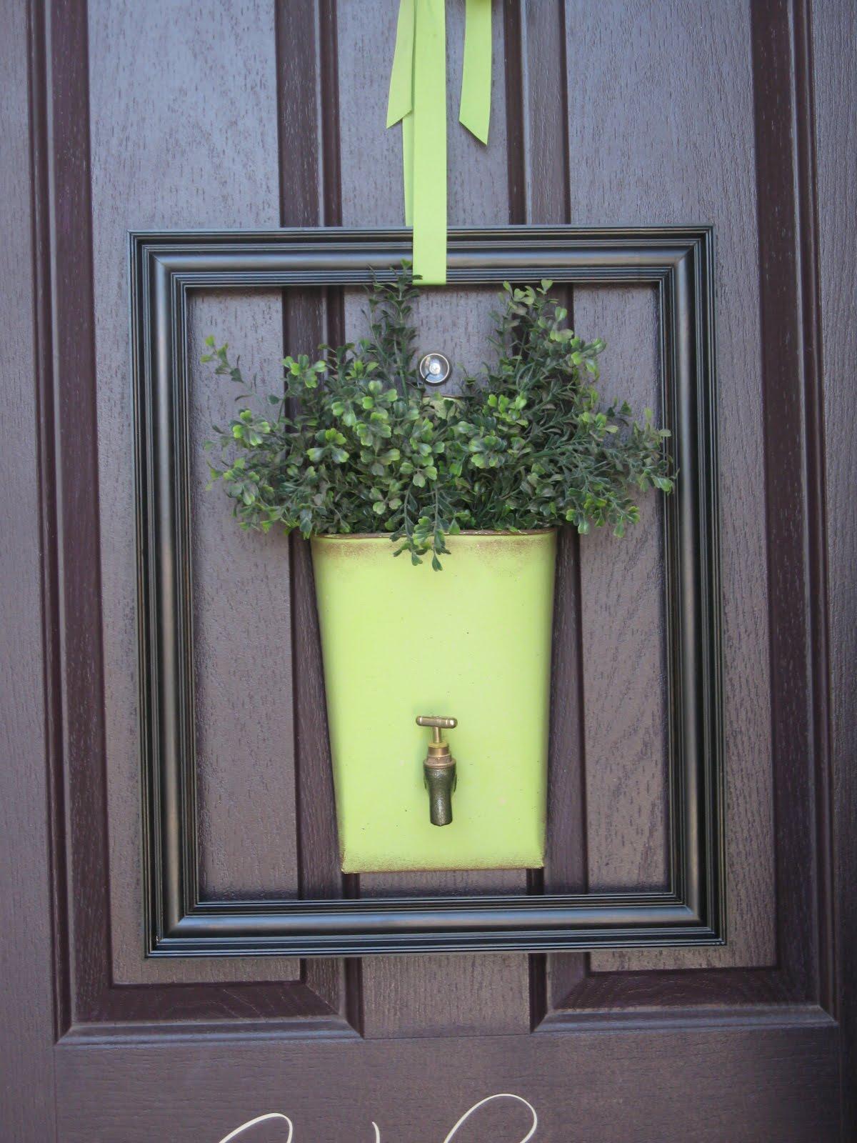 Not so usual front door decor no wreaths allowed - Front door entrance decorating ideas ...