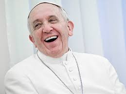 Pope smiling