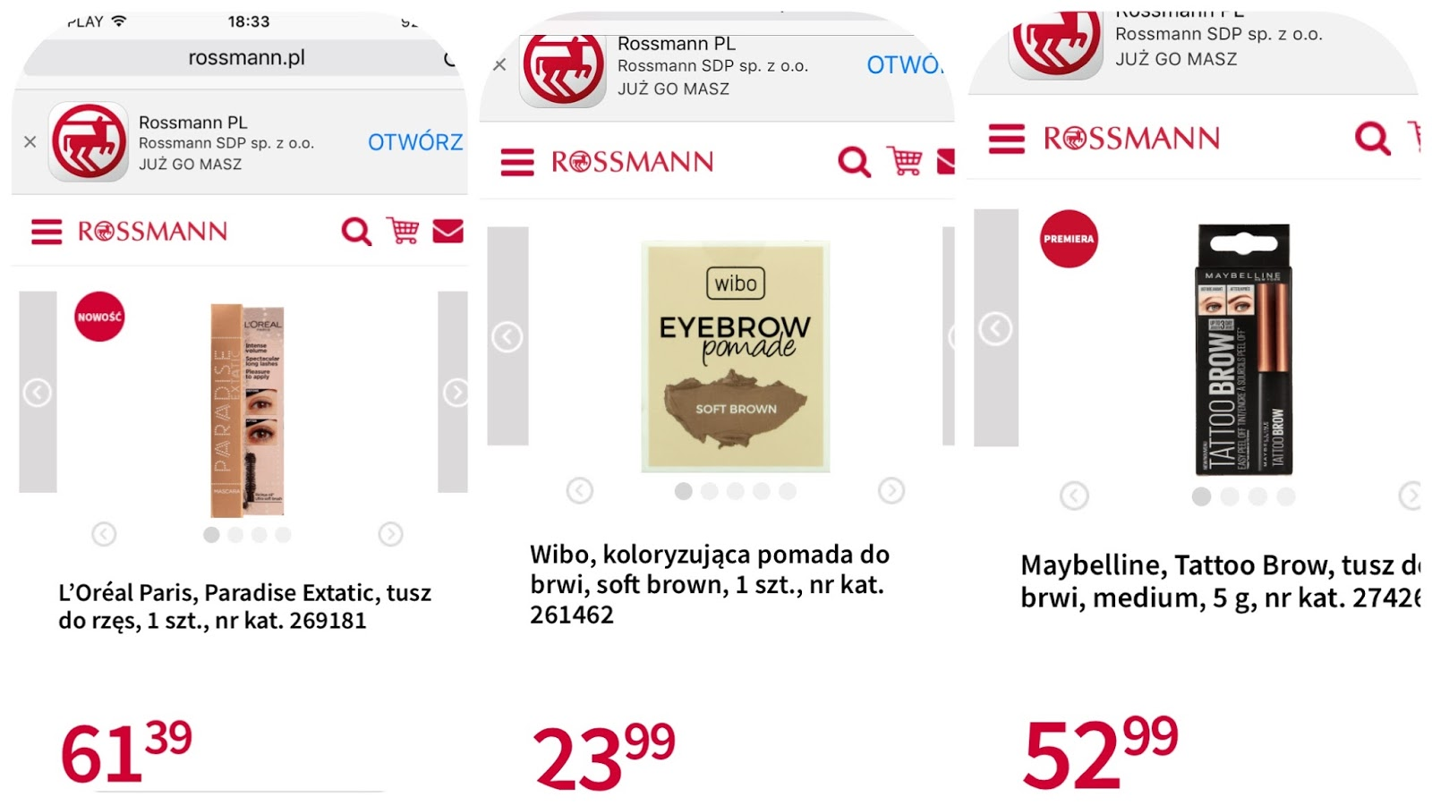 Rossmann -55% zdjęcie pomysłu na zakupy