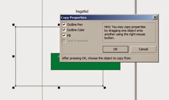 How to Copy Properties Text, Outline and Fill Color on Corel Draw
