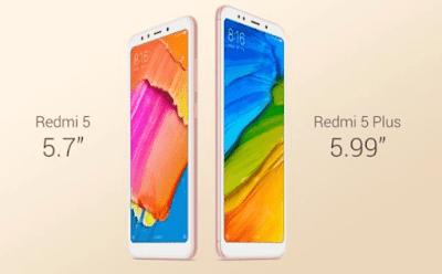 Perbedaan Xiaomi Redmi 5 dan Redmi 5 Plus