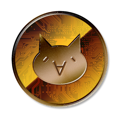 仮想通貨モナコイン (表面)のフリー素材(銅貨ver)