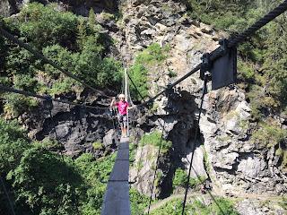Pont de singe Via Ferrata lac de la Rosière Courchevel