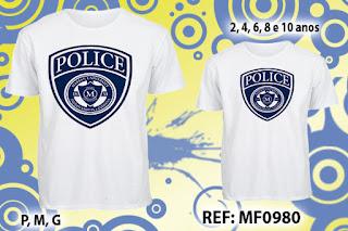 Tal Pai Tal Filho Camisetas Personalizadas Policia