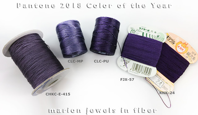 C-Lon Bead Cord, Silk, and Chinese Knotting Cord equivalent to Pantone Color of the Year 2018