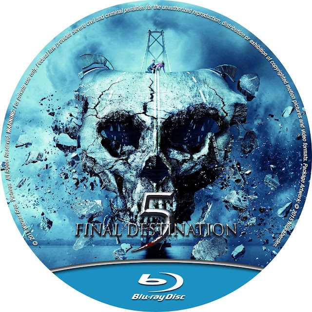 Final Destination 5 Bluray Label